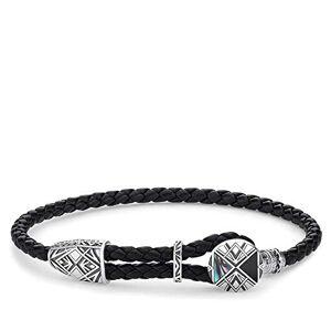 Thomas Sabo Men Silver Rope Bracelet A1862-981-11-L25v, Black