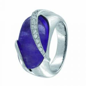 Cobra JR757AGVI-Ivana-Women's Ring Sterling Silver 925/1000 Rhodium-Plated 58 Violet