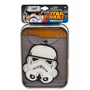 """Joy Toy """"Star Wars Stormtrooper"""" Necklace with Pendant in Vinyl in Printed Collecting Box (Multi-Colour)"""