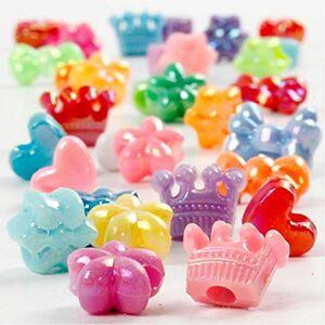 Creativ Novelty Shape Plastic Beads, D: 10 mm, 65 g, 125ml