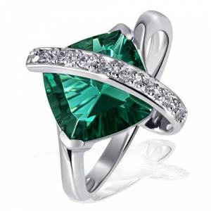 Goldmaid Women's Ring 925 Sterling Silver Green Fa R2605S58 Size: 58