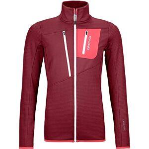 Ortovox Women's Fleece Grid Jacket W, Dark Blood, L