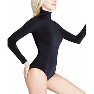 FALKE Women's Rich Cotton Bodysuit, Black, L 44-46