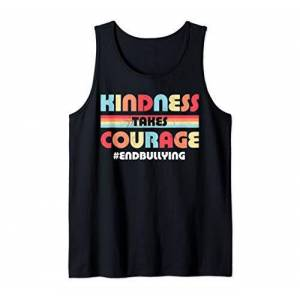 Anti-Bullying Awareness Co Kindness Takes Courage Anti Bullying Men Women Retro Vintage Tank Top