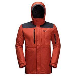 Jack Wolfskin Men's Brecon Range Raining Jacket, mexican pepper, L