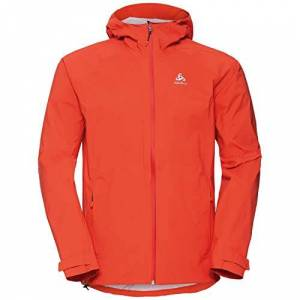 ODLO Men's Aegis Hardshell Jacket, Mandarin red, M