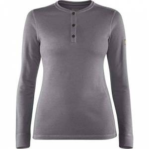 FJALLRAVEN Women's Singi Merino Henley W Jersey, gris, XL