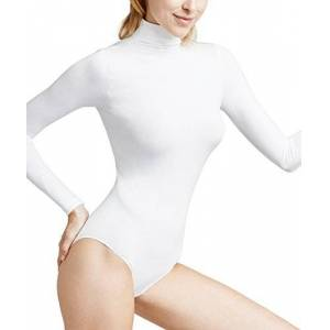 FALKE Women's Rich Cotton Bodysuit, Ivory, S 36-38