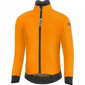 GORE WEAR Men's Thermo Cycling Jacket, C5, GORE-TEX INFINIUM, S, Bright Orange