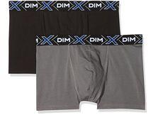 d85c0eb6b17be5 DIM Men's's X-Temp Boxer X2 Hipsters, Multicolour (Gris foncé/Noir 5VK),  Large (Size: 4) Pack of 2