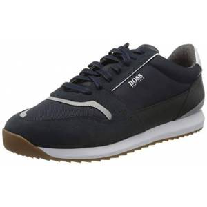 Boss Men's Sonic_Runn_ltmx Low-Top Sneakers, Blue (Dark Blue 401), 5 UK