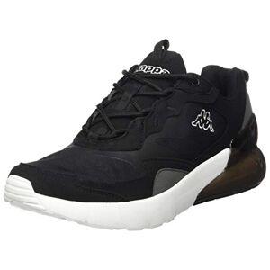 Kappa Unisex Adult's Durban Sneaker, 1110 Black/White, 6 UK (39 EU)