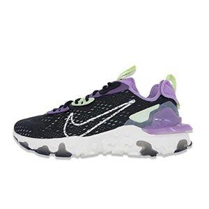 Nike Men's React Vision Running Shoe, Black/Sail-Dk Smoke Grey-Gravity Purple, 10 UK