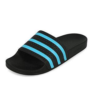adidas Adilette, Men's Slide Sandal, Black (Core Black/Blue Glow/Core Black), 5 UK (38 EU)