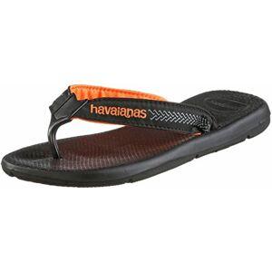 Havaianas Men's Surf Pro Flip Flops, Black/Black, 5 UK