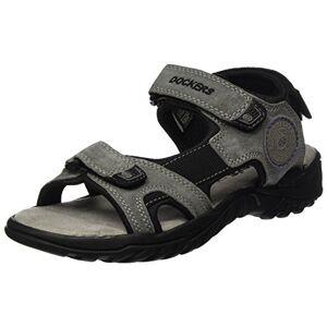 Dockers by Gerli Men's 42th004-200236 Sling Back Sandals, Grey (Asphalt/Blau 236), 6/6.5 UK