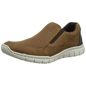 Rieker Men's Frühjahr/Sommer B8769 Low-Top Sneakers, Brown (Mandel/Brown-Black/Kakao 24), 10.5 UK