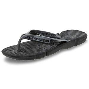 Havaianas Men's Power Flip Flops, Black/Steel Grey, 5 UK 39/40 EU
