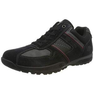 Dockers by Gerli Men's 36ht020 Low-Top Sneakers, Black (Schwarz/Grau 120), 7.5 UK
