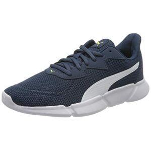 Puma Unisex Adults' Interflex Runner Running Shoes, Blue (Dark Denim White/Yellow Alert 08), 4 UK 37 EU