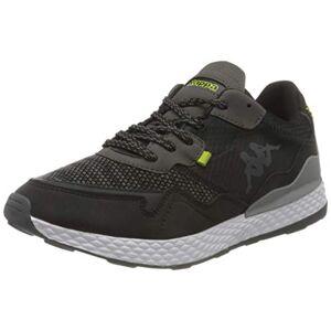 Kappa Unisex Adults' Laverton Sneaker, 1133 Black/Lime, 5 UK