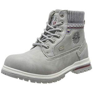 Dockers by Gerli Unisex Kids' 45bi701 Combat Boots, Grey (Hellgrau 210), 1 UK