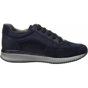 Geox Men's U Dennie A Low-Top Sneakers, Blue (Navy/Denim C4458), 11 UK