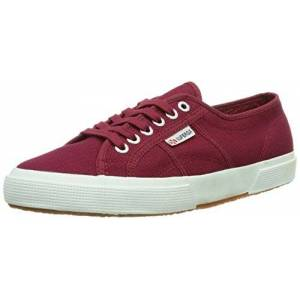 Superga Unisex Adults' 2750 Cotu Classic Trainers Low-Top, Red (Scarlet S104), 5 UK (38 EU)