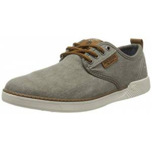 Dockers by Gerli Men's 44sv009-790213 Low-Top Sneakers, Grey (Hellgrau/Brown 213), 9.5 UK