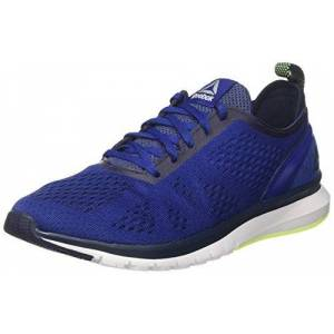 Reebok Men's Print Smooth Clip Ultraknit Competition Running Shoes, Blue (Deep Cobalt/coll Navy/Electric Flash/White/pwtr), 7.5 UK