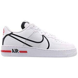 Nike Men's Air Force 1 React Basketball Shoe, White/Black-University red, 10.5 UK