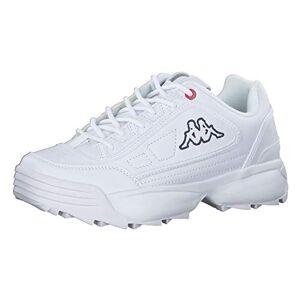 Kappa Unisex Adults' Rave Nc Low-Top Sneakers, Black (White 1010), 5 UK