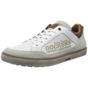 Dockers by Gerli Men's 46ul001-120500 Low-Top Sneakers, White (Weiss 500), 6.5 UK