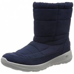 Skechers Women's On-the-go Joy High Boots, Blue Navy Textile Suede Nvy, 2 UK