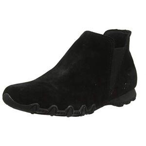 Skechers Women's Bikers Mc - Bellore Chelsea Boots, Black Black Suede Flash Bbk, 2 UK