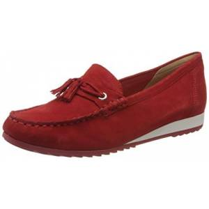 CAPRICE Women's Inoxy Loafers, Red (Red Suede 524), 5 UK