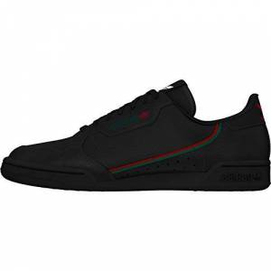 adidas Continental 80, Men's Gymnastics Shoe, Core Black/Scarlet/Collegiate Green, 6.5 UK (40 EU)