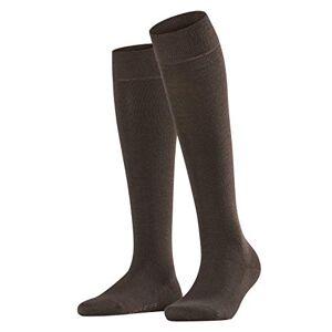 FALKE Women's Softmerino Knee-High Socks - Merino Wool/Cotton Blend, Brown (Dark Brown 5239), UK 4-5 (EU 37-38 Ι US 6.5-7.5), 1 Pair