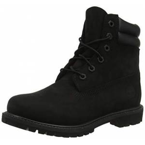 Timberland Women's Waterville 6 Inch Double Collar Waterproof Lace-up Boots, Black Nubuck, 5 UK 38 EU