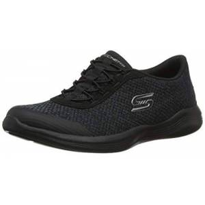 Skechers Women's Envy-Good Thinking Trainers, Black (Black Heather Mesh/Trim Bkcc), 2.5 (35.5 EU)