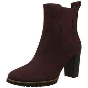 Timberland Women's Leslie Anne Chelsea Boots, Red (Dark Port Nubuck C60), 10 UK 37 EU