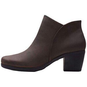 Clarks Women's Un Lindel Zip Ankle boots, Brown, 3.5 UK