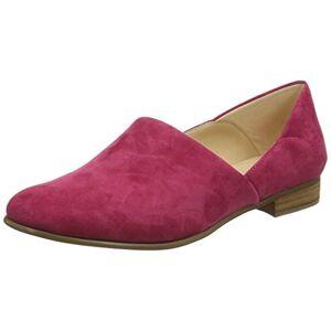 Clarks Women's Pure Tone Loafers, Green Fuchsia Suede Fuchsia Suede, 4 UK