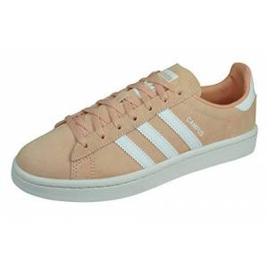adidas Campus W, Women's Gymnastics Shoes, Brown (Maroon/Orchid Tint S18/Hi/Res Yellow Maroon/Orchid Tint S18/Hi/Res Yellow), 4.5 UK (37 1/3 EU)