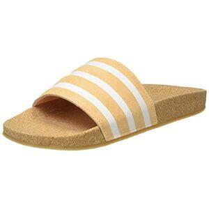 adidas Women's Adilette W Gymnastics Shoe, Acid Orange Core White Core, 2.5 UK