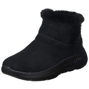 Skechers Women's GO Walk Arch FIT Ankle Boot, Black Suede, 4 UK