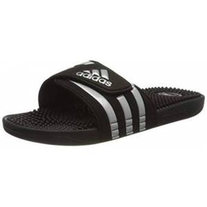adidas Women's Badepantoletten-g28843 Loafer, Cblack/Silvmt/Cblack, 8.5 UK