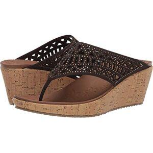 Skechers Women's Beverlee-Summer Visit Open Toe Sandals, Brown (Chocolate Chocolate), 8 UK 41 EU