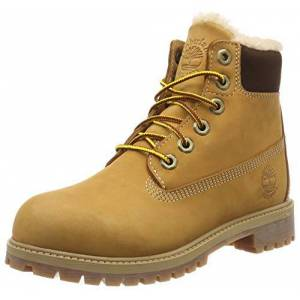 Timberland 6 In Classic Boot, Unisex Kids' Ankle Boots Classic Boots, Beige (Wheat Waterbuck 231), 4 UK (37 EU)