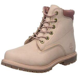 Timberland Women's Waterville 6 Inch Basic Waterproof Lace-up Boots, Light Pink Nubuck, 6 UK 39 EU